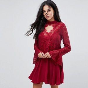 NWOT Kiss the sky tall Lace dress size L